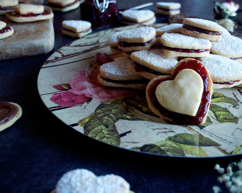 Almond Shortbread Sandwich Cookies Recipe — Dishmaps