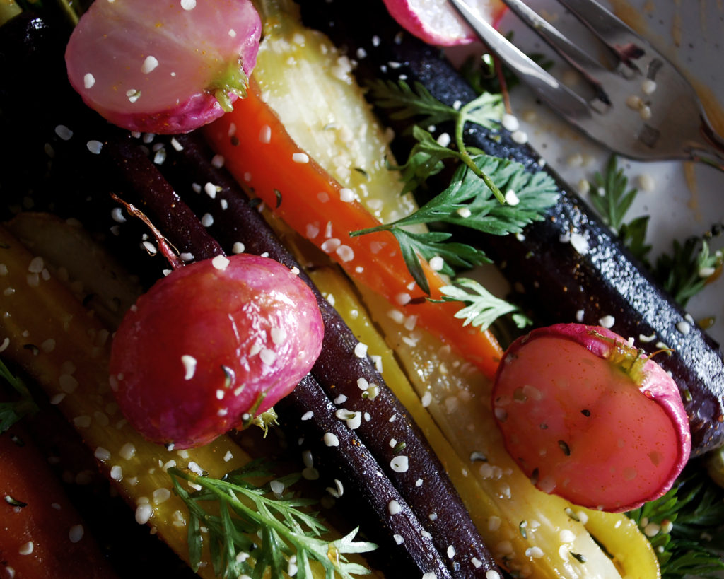 Honey Turmeric Roasted Carrots & Radishes