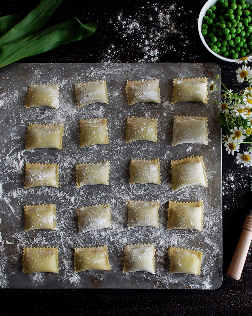 Sweet Pea Agnolotti with Ramp Butter