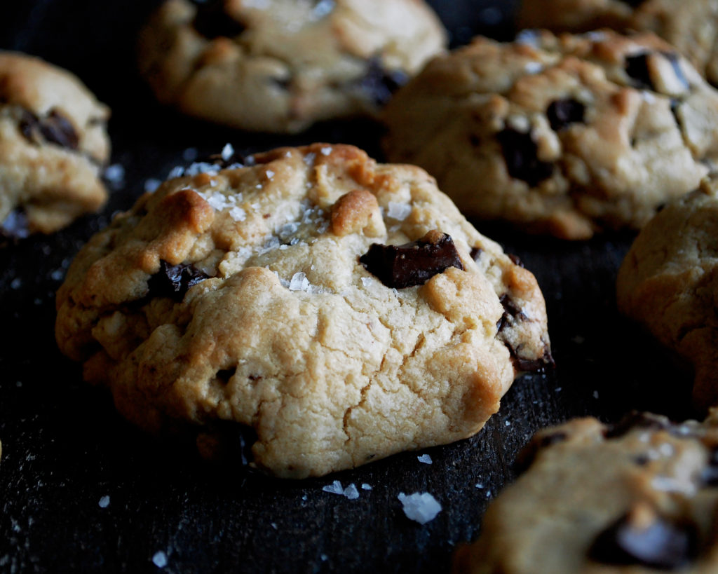 Salted Tahini Chocolate Chip Cookies